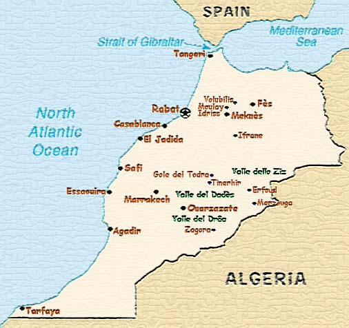 Dove Si Trova Il Marocco Cartina.Diario Di Viaggio In Marocco